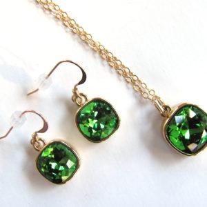 Gold Green Swarovski Rhinestone_1403