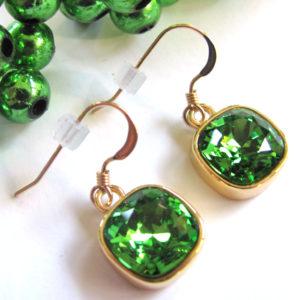 Gold Green Swarovski Rhinestone_1408