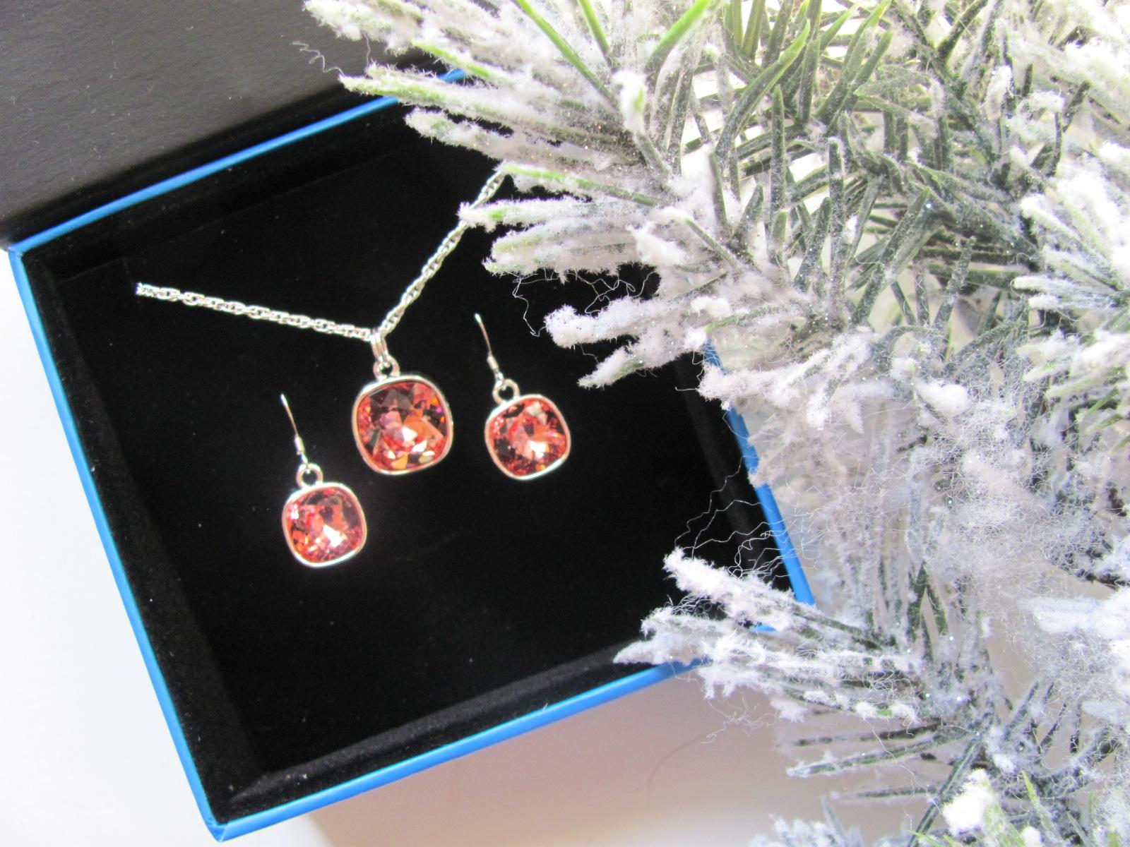 Rosey Peach Swarovski Rhinestone Gift Set Jill Gehr