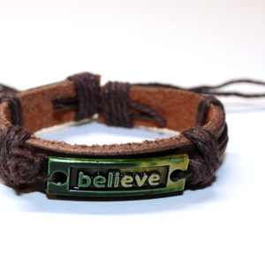 Leather Believe Bracelet 1