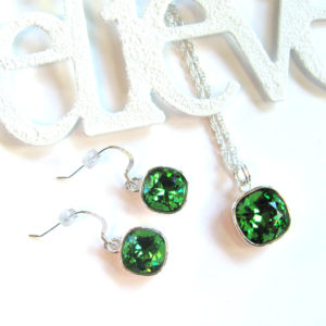Silver Green Swarovski Rhinestone_1345