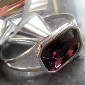 Swarovski Amethyst Cuff Bracelet_1080