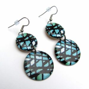 Sea Glass Double round earrings_9822 (800x799)